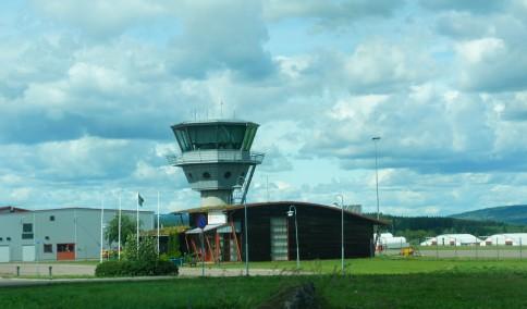 Torsby Skidtunneln mot flygplatsen