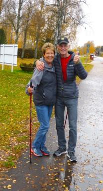 Mötte två av Uddeholms piggaste motionärer, Anita o Sven