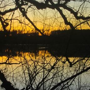 Solnedgång från Klarälvsbanan