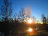 Soluppgång från vår balkong