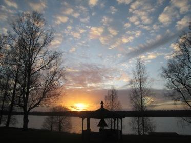 Solnedgång sedd från Uddeholms Hotell