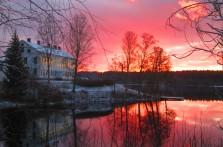 Uvåns mynning med Uddeholms Herrgård