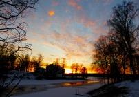 2017-04 Solnedgång över Rådasjön från gamla bron