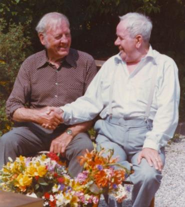 Harry och far vid hans 70-årsdag