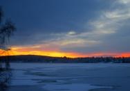 Solnedgång fr Södra gärdet