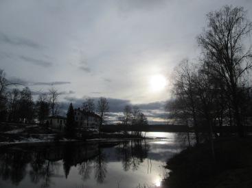 Uvåns utlopp i Rådasjön från gamla bron