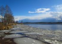 Rådasjön söderut från badplatsen Södra gärdet