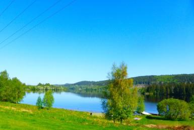 SUNNEMO Lidsjön norrut från Norra Väsby